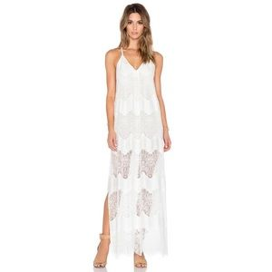 Alice + Olivia | Vandy Lace Maxi Dress Off White